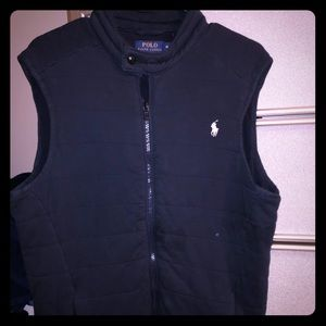 Men's navy Ralph Lauren zip up vest